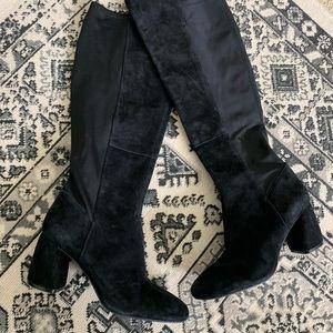 NWOT Nine West black suede knee high boots size 11